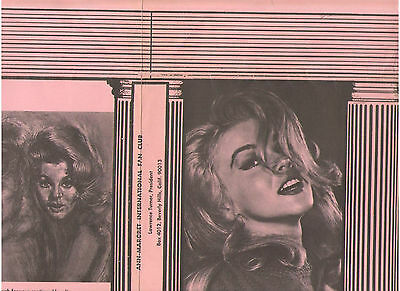 ANN MARGRET VINTAGE ORIGINAL PINK BOOK COVER WITH SIGNATURE FROM FAN CLUB 1960s
