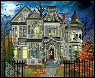 Halloween - Come on In - DIY Chart Counted Cross Stitch Patterns Needlework
