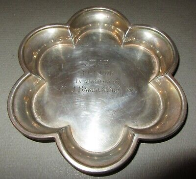 TIFFANY & Co. Makers Sterling Silver 25365 very rare pattern clover dish / bowl