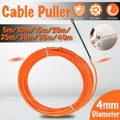 5-40M Guide Device Wire Cable Rod Electrician Push Puller Duct Fish Tape Tool