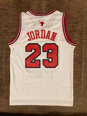 Men's / Youth Michael Jordan #23 Chicago Bulls Throwback Swingman WHITE jersey