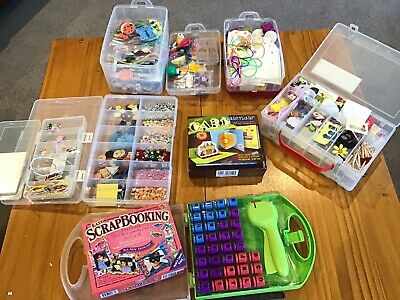 Assorted Scrapbooking Items: Paper, Buttons, Alphabet Cutters EUC Pick Up 3134