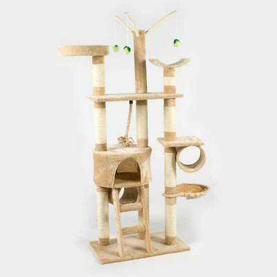 Cat Tree Tower Super Deluxe Activity Centre Covered in Sisal Play Scratch Fun