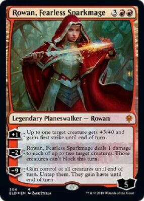 Rowan, Fearless Sparkmage MYTHIC FOIL Throne of Eldraine MTG Magic The Gathering