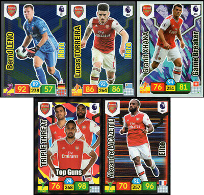 Panini Adrenalyn Xl Premier League 2019/20 Arsenal 5 Special Insert Cards