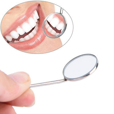 1PC Dental Mirror Dentist Stainless Steel Handle Tool for Teeth Cleanin~PA