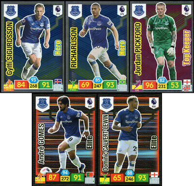 Panini Adrenalyn Xl Premier League 2019/20 Everton 5 Special Insert Cards