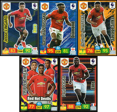 Panini Adrenalyn Xl Premier League 2019/20 Manchester Utd 5 Special Insert Cards