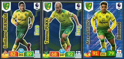 Panini Adrenalyn Xl Premier League 2019/20 Norwich City 3 Special Insert Cards