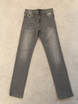 Exc Hugo Boss Boys Light Grey Super Slim Fit Jeans Age 12 Xs