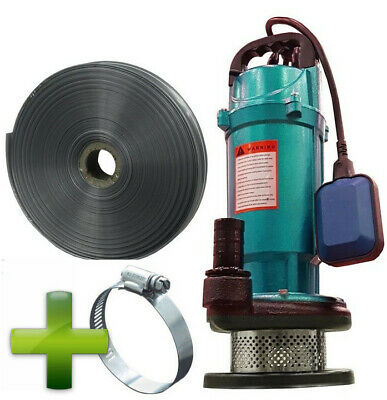 Submersible FISH FRIENDLY pond PUMP for dirty, clean water +10m hose SET + clamp