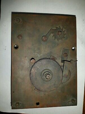 Back Wound Fused Wall Clock Movement For Spares Or Repairs