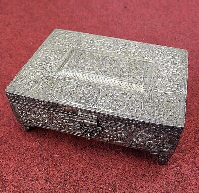 1600s Lovely Old Bronze Carved Unique Antique Egyptian Jewelry Box