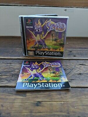 Sony PS1 Black Label Spyro The Dragon Case and Manual Only - In Good Condition