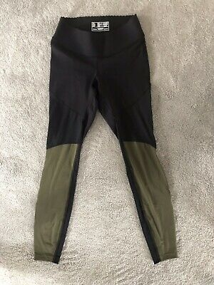 Exc Heidi Klein New Balance Black/Khaki Gym Fitness Leggings Xs