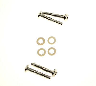 Lucas 942 Rear Light Lens Screws x 8 In Stainless Steel /& White Fibre Washers