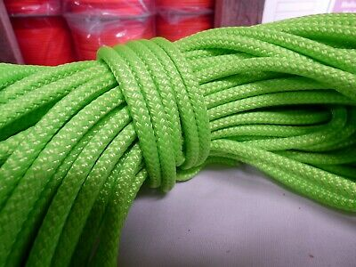 1/4 x 170 ft Pre-Cut Double Braid-Yacht Braid polyester rope hank.lime