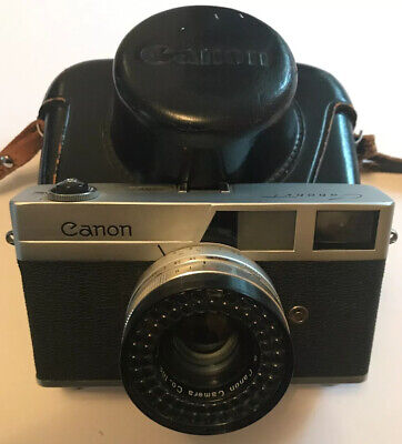 Canon Canonet 35mm Film Rangefinder Manual Camera 45mm F/1.9 Lens & Case