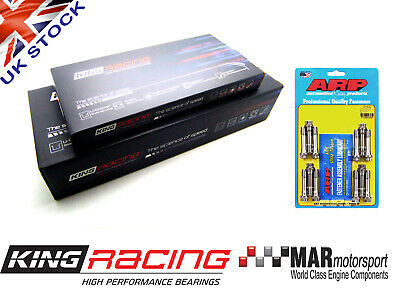 KING RACE Big End / Conrod & Main Bearings BMW E46 M3 3.2 S54B32 + M10 ARP Bolts