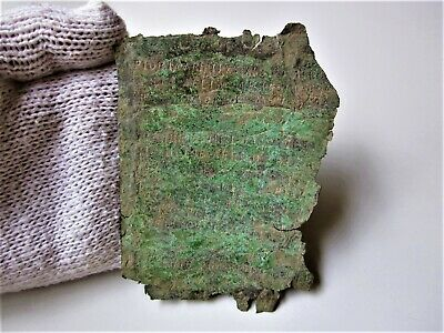 INCREDIBLE RARE ancient Roman Legionnaire letter or document with inscriptions.