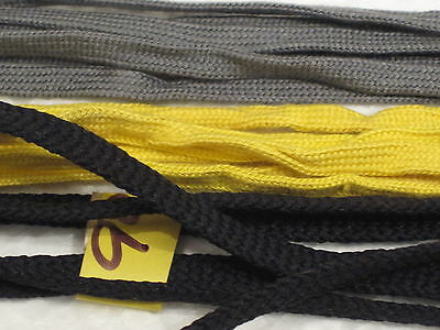 QUALITY black /yellow/grey 90cm laces 2pairs of each colour 6 PAIR LOTS