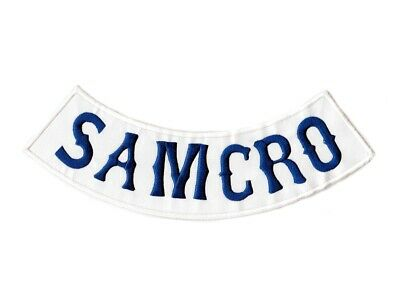 Grand écusson SAMCRO Sons of Anarchy Motorcycle Club Patch Aufnäher Parche Toppa