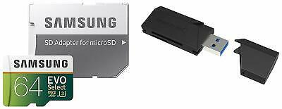 64GB EVO Select and Sabrent Super-speed USB 3.0 Flash Memory Card
