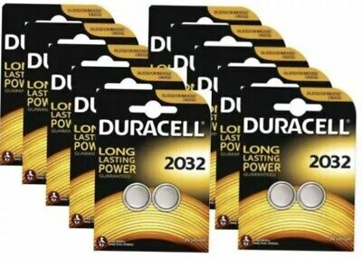 20 x Duracell CR2032 3V Lithium Coin Cell Battery 2032 button DL2032 SB-T15 NEW