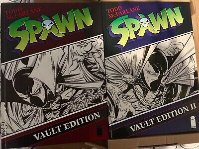 Spawn Vault Edition Vol 1 & 2 HC Todd McFarlane signed Both 1st &only printing