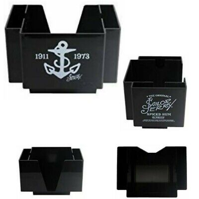 Sailor Jerry Spiced Rum Black Napkin & Swizzle/Stir Stick bar caddy man cave