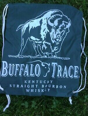 "Buffalo Trace Kentucky Straight Bourbon Whiskey Cinch Green Nylon Bag 15""X13"""