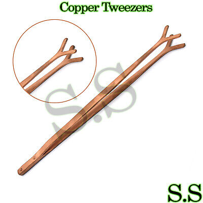 Copper Tongs for Pickling Solution Fishtail Tips Tweezers for Jewelry Soldering