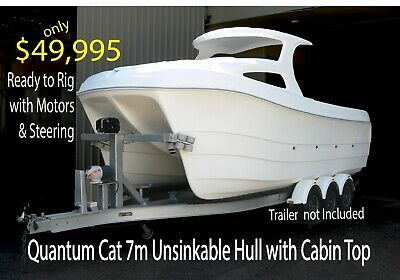 7m  Power Catamaran - Composite Hull & Cabin - UNSINKABLE - 100% Aussie Made