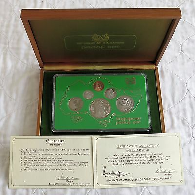 SINGAPORE 1976 6 COIN PROOF YEAR SET  - sealed/complete