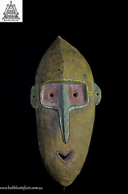 Rare Early Carved Old Sassoya Tumbuan Mask, East Sepik, PNG, Oceanic
