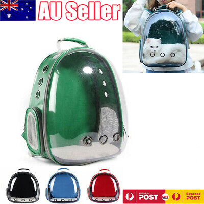 Pet Outdoor Carrier Backpack Cat Dog Puppy Travel Space Capsule Shoulder Bag AU