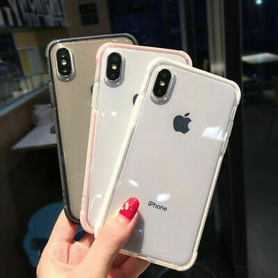 Clear Shockproof Soft Bumper Silicone Case Cover For iPhone X XS Max 6 7 8 Plus