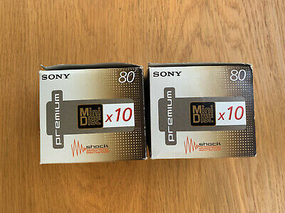 Lot de 11 Minidisc Sony Premium 80 min neufs sealed