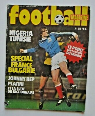 1977 football magazine n°219 complet poster équipe FRANCE BULGARIE REP PLATINI