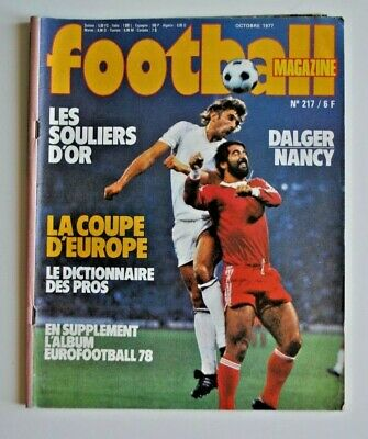 1977 football magazine n°217 complet poster platini nancy URSS coupes Europe