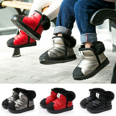Kids Snow Boots Waterproof Toddler Infant Baby Boys Girls Winter Warm Shoes