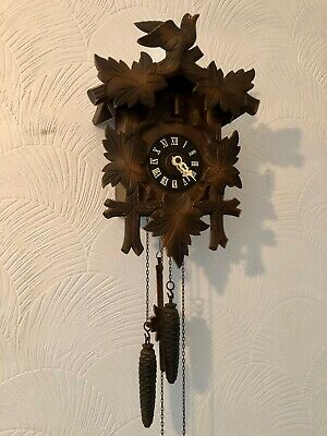 Vintage REGULA Hand Made Wooden Cuckoo Clock Made in Germany