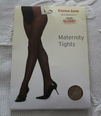 NEW EMMA JANE  MATERNITY  TIGHTS - One Size - Natural 20 DENIER