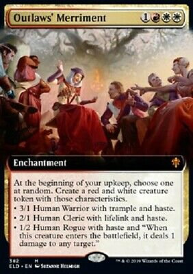 Outlaws' Merriment ext. art MYTHIC Throne of Eldraine MTG Magic The Gathering