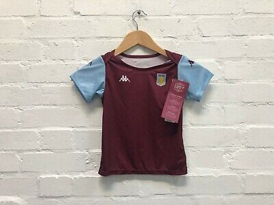 Kappa Aston Villa FC Kid's 2019/20 Home Shirt - 2 Years - Claret - New