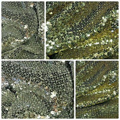 "Sequin Fabric Glitter Bling Slight Stretch By The Metre All Colours 30"" Wide"