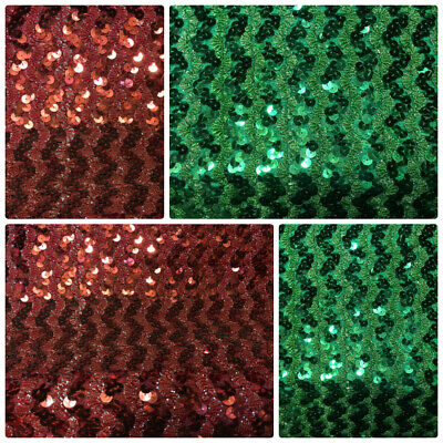 "Sequin Fabric Glitter Bling Material Stretch Sequins By The Metre 11"" Wide"