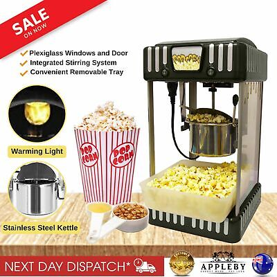 Classic Popcorn Machine Electric Automatic Popping Corn Maker Movie Theatre