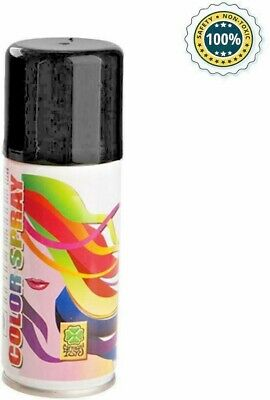 ✨ Spray Colorato Per Capelli Nero 100 Ml Temporaneo Party Feste Carnevale