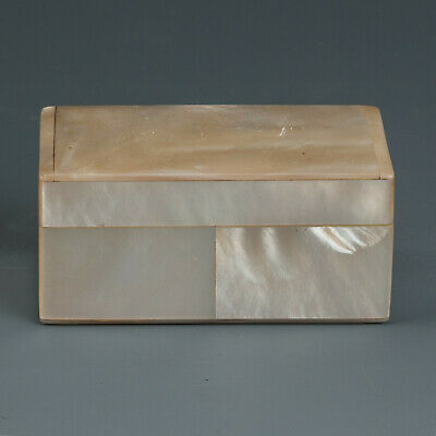 2831 19th century antique Mother-o-Pearl Box by Lun with FREE Worldwide Delivery
